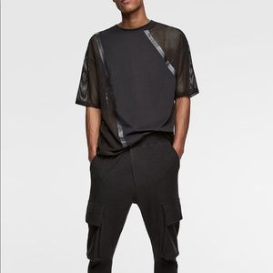 Zara 2019 mesh inserts shirt